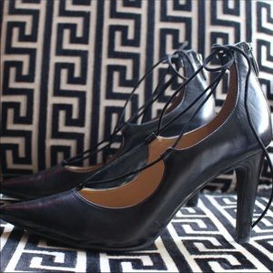Franco Sarto leather lace up pump